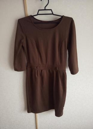 Платье осень-весна,шоколад,цвет палочка корицы