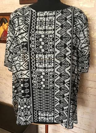 Черно-белая шифоновая блуза