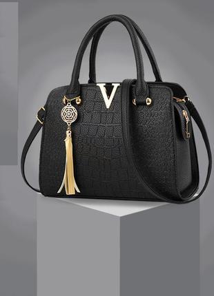Женская стильная черная модная сумка