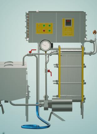 Пастеризатор молока проточный 2 т/ч УЗМ-2,0Р