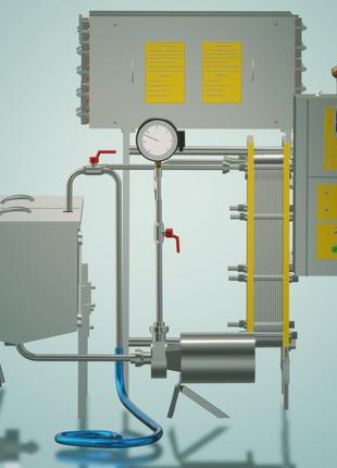 Пастеризатор молока проточный 2 т/ч УЗМ-2,0П
