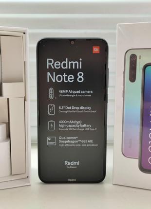 НОВЫЙ Redmi Note 8 - 4/64GB - Space Black - Global Version