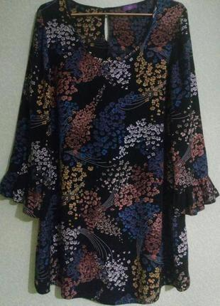Очаровательное вискозное платье туника большого размера 🌺