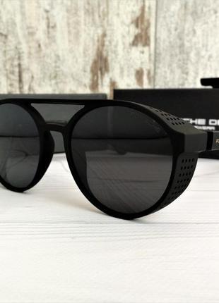 Мужские чёрные солнцезащитные очки