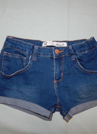 Шорты джинсовые модные на девочку 12-13 лет 158 см