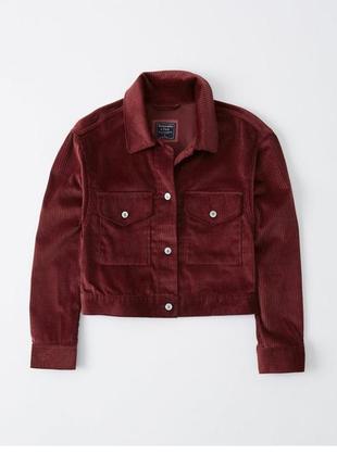 Вельветовая куртка abercrombie & fitch