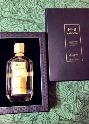 Восточный шлейфовый аромат Phi Maroony