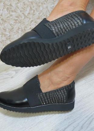 Черные кожаные лоферы 38 размера