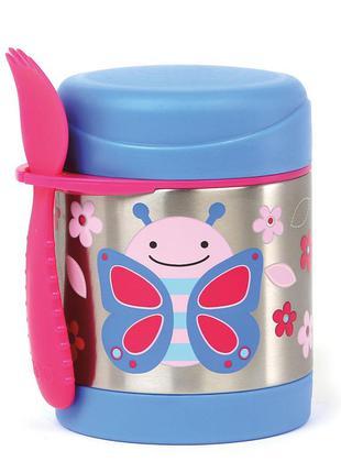 Термос для еды skip hop 325 мл бабочка со столовым прибором zo...