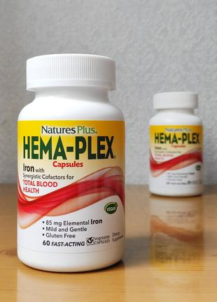 Hema-Plex, курс на 30 дней, лучшее железо, Nature´s Plus