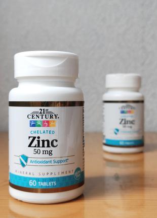 Цинк Хелат 21st Century, 50 мг, 60 таблеток