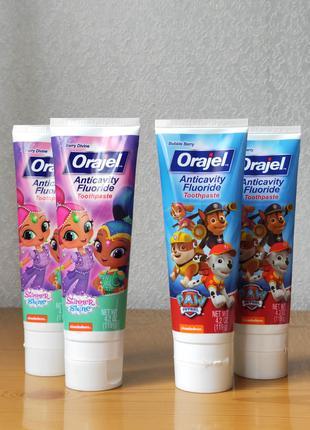 Orajel, Детская зубная паста с фтором против кариеса, 119 г