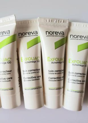 Крем с кислотами для проблемной кожи noreva exfoliac acnomega 100