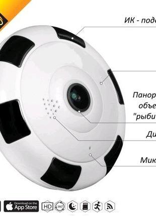 Smart камера WIFI 2Mп рыбий глаз IP панорамная мини видео наблюд