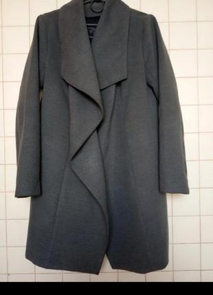 Пальто кардиган серое серый sale