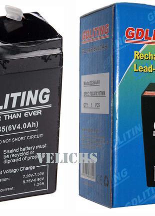 Аккумулятор 6 V 4 A GDLITING GD-645
