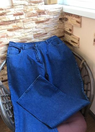 Стильные джинсы с высокой посадкой мом бойфренд для пышной кра...