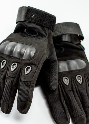 Тактические перчатки открытые и закрытые, Oakley ЧЕРНЫЙ И ОЛИВА