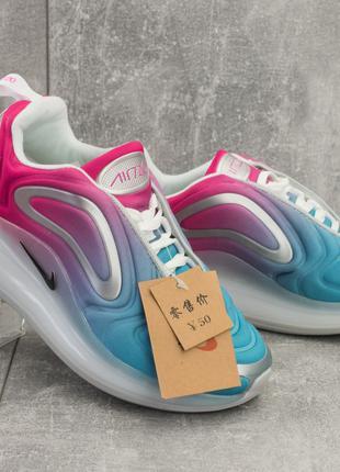 Женские кроссовки текстильные веснаосень голубые-розовые