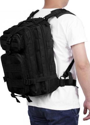 Тактический военный, полевой рюкзак 25л. Черный и Олива (45л, ...