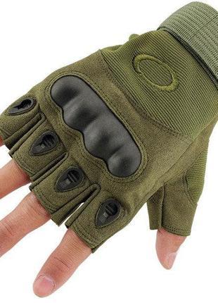 Тактические перчатки Oakley ОТКРЫТЫЕ + ПОДАРОК тактический нож