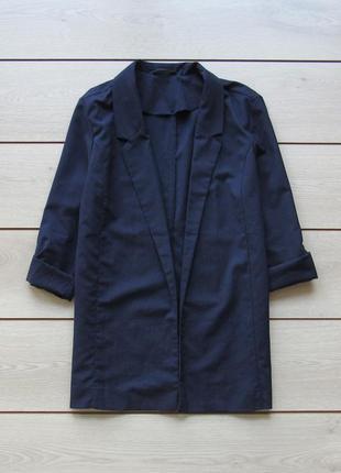 Легкий пиджак блейзер с закатывающимися рукавами