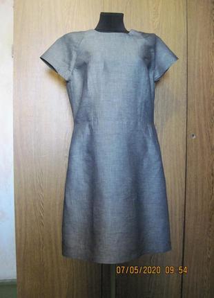 Льняное летнее платье мини