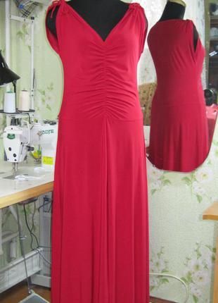 Длинное летнее платье