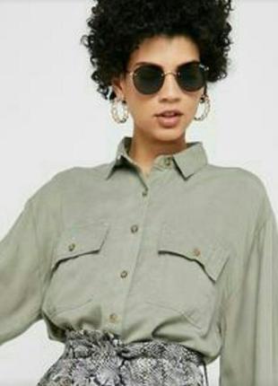 Рубашка блузка h&m logg 100% вискоза