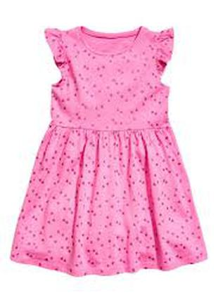 хлопковое платье девочке 6 - 8 лет H&M