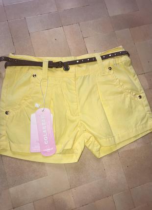 Котоновые шорты на девочку Colabear 122-154р
