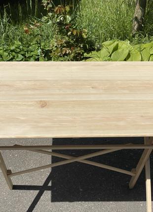 Розкладний стіл з натурального дерева
