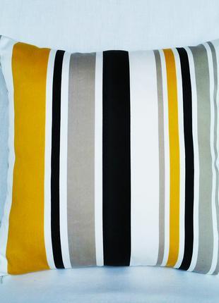 """Интерьерная подушка """""""" цветные полоски """", 40смх40см"""