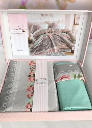 Комплект постельного белья двуспальный, пр-во турция, ткань ра...