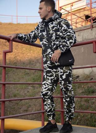 Комплект ветровка анорак найк (nike) + штаны + барсетка в пода...