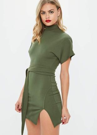 Крутое платье хаки от missguided