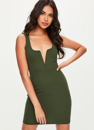 Платье хаки от missguided