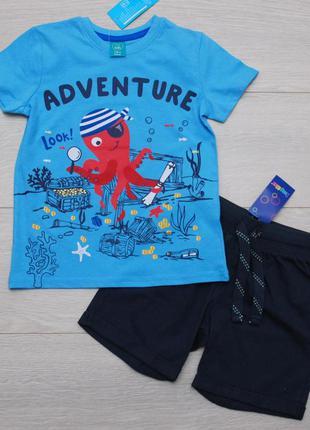 Костюм летний для мальчика футболка pepco шорты lupilu 98-116