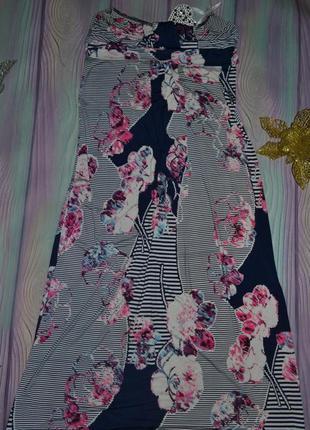 Женское платье в пол размер 12(46-48