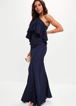 Платье макси синие от missguided