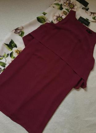 Платье шифоновое с пелериной new look размер 14/16