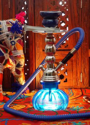 Кальян Китай со стеклянной колбой h=27см. Синий