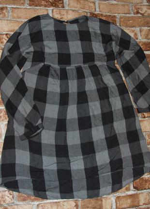 хлопковое платье девочке в клетку 11 - 12 лет Zara