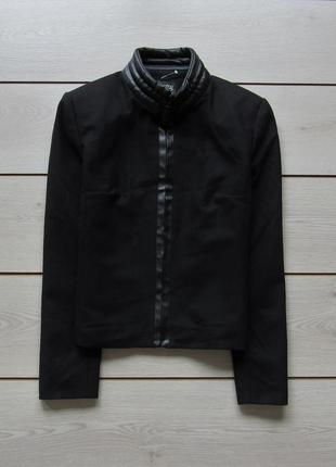Укороченное короткое пальто куртка шерсть от due vestino