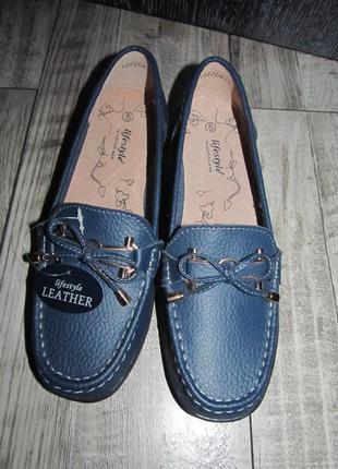 Кожаные туфли lifestyle р. 5е - 24см.