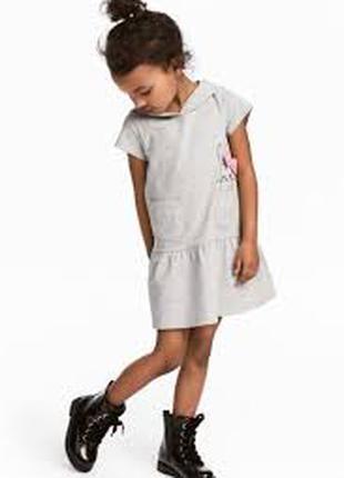 платье котон зайка девочке 5 - 6 лет H&M