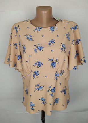 Блуза новая легкая в цветы prinark uk 12/40/m