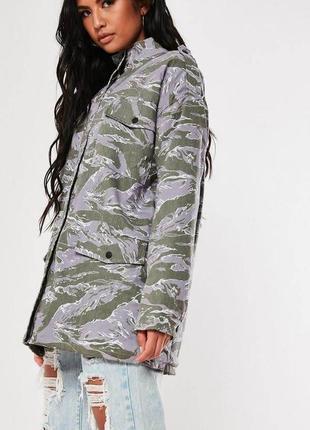 Очень крутая куртка на искусственном меху оверсайз от missguided