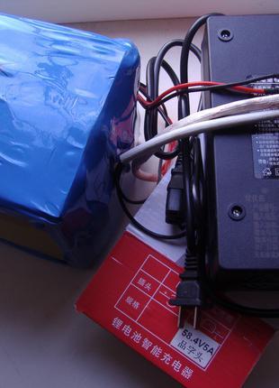 Аккумулятор LiFePO4 (48v 14Ah) +зарядное 58.4v 5a +корпус металл