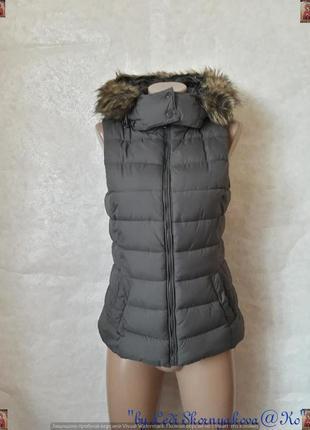 Фирменная chicoree стильная жилетка с утеплителем с мехом под ...
